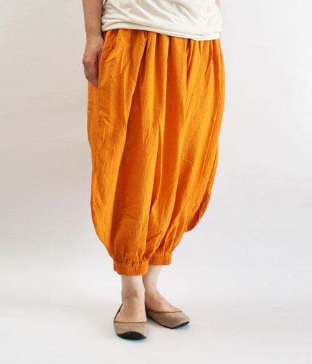 ヂェン先生の日常着 バルーンパンツレギュラー オレンジ