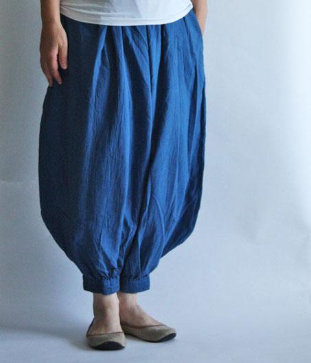ヂェン先生の日常着 バルーンパンツレギュラー ブルー