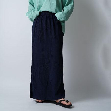 ヂェン先生の日常着 シンプルパンツ 薄手 台湾 横イメージ