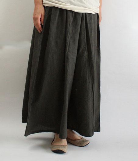 ヂェン先生の日常着 ワイドパンツ薄手 Lサイズ ブラウンコイメ