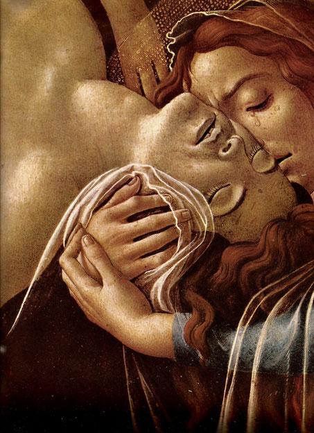 """Sandro Botticelli, """"Compianto di Cristo morto con Santi"""" (1490-1495)"""