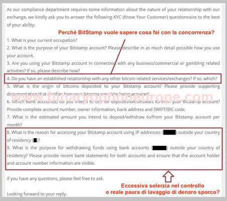 bitstamp italia verifica conto email come funziona