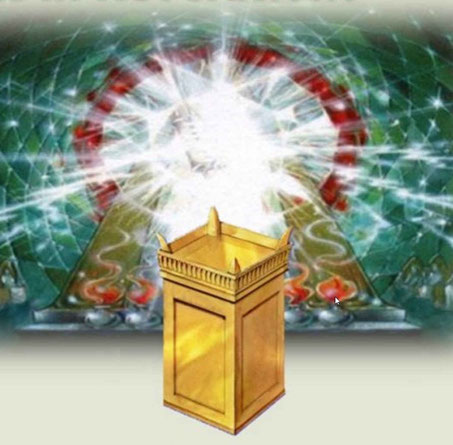 L'autel d'or se trouve devant le trône et le trône se trouve dans le Temple céleste. Le fait de mesurer l'autel d'or où a été sacrifié l'Agneau de Dieu, Jésus-Christ, indique que les humains vont enfin pouvoir bénéficier du pouvoir rédempteur de son sang.