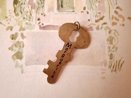 花園の鍵ペンダントトップ Key of the secret garden
