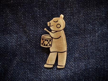 ぶたちゃん音楽隊 Piggy Musician /ペンダントトップ Pendant Jewelry