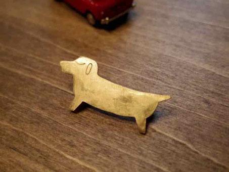 真鍮金工ブローチ 京都手づくり市にて販売します