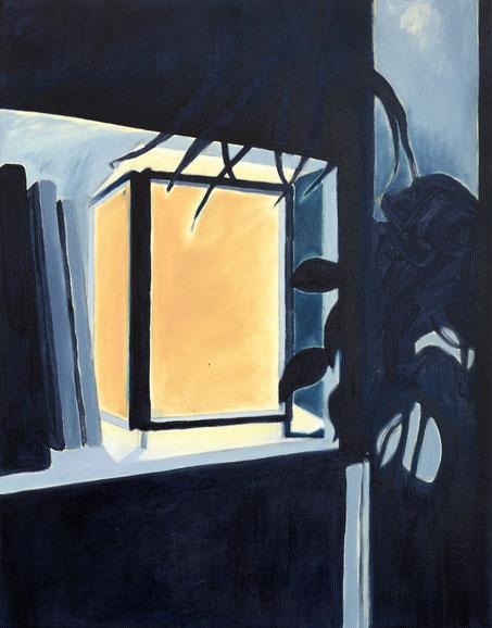 »Lampe« 100 x 75 cm, Öl, Lack und Acryl auf Baumwolle
