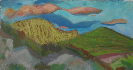 ABEND BEI FAUCON  2011   Öl auf Leinwand  90 x 170 cm