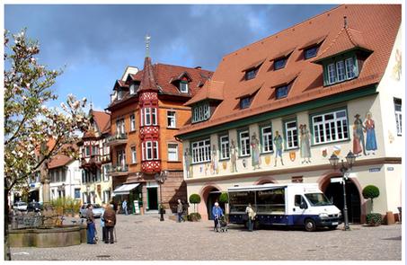 Der Markplatz in Haslach