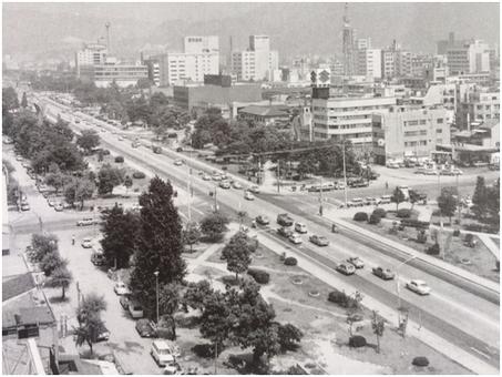1968年平和大通り