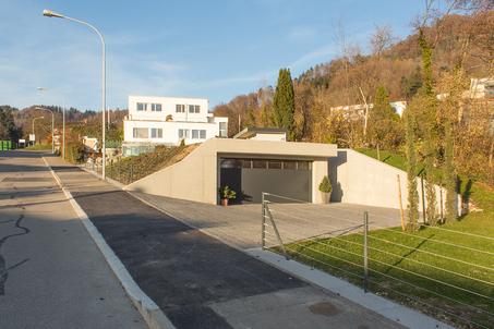 Starkl Vieli Architekten Doppelgarage mit Gartenpavillon