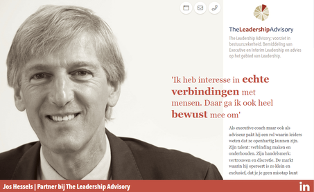 Jos Hessels van The Leadership Advisory storytelling