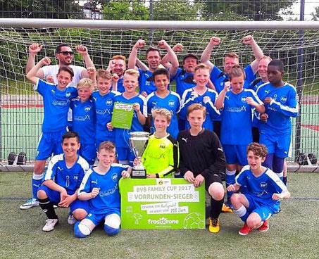 1. Platz beim BVB Family-Cup Vorrundenturnier der SGS