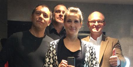 Von links nach rechts : Tim Turusov, Flo Streitwieser, Eva Klein, Berhard Schloemer