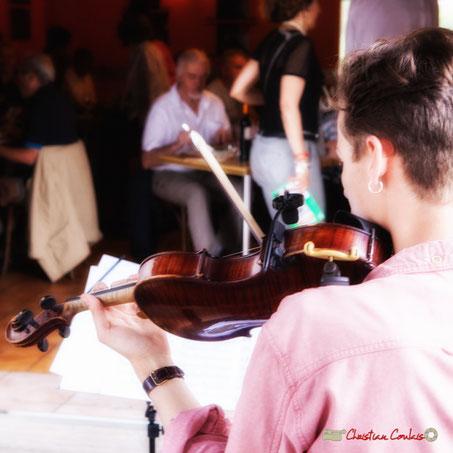 Pierre Meunier; Duo2 Source. Festival JAZZ360 2018, restaurant les Acacias, Cénac. 09/06/2018