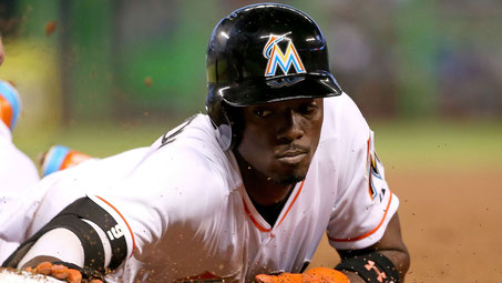 Nella foto Dee Gordon con la casacca Miami nel 2017 ha rubato 60 basi (MIKE EHRMANN | GETTY IMAGES)