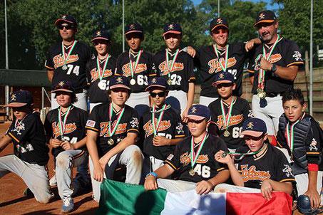 I Falcons di Torre Pedrera Campioni d'Italia 2016
