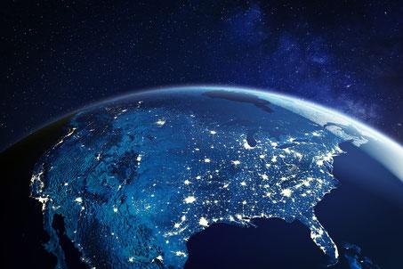 Die USA bei Nacht aus dem Weltraum