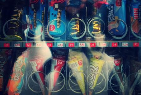 2018 leider vernachlässigt: Der sonst so geliebte Eisautomat der Messehalle 5