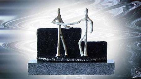 Skulptur zum Jubiläum für Geschäftspartner