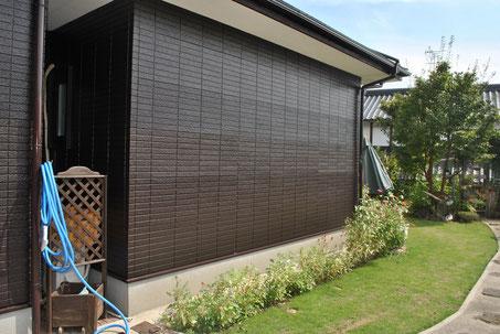 熊本市〇様家のサイディング外壁を高耐久・防カビ塗料のブラウンカラーにて塗装完成。