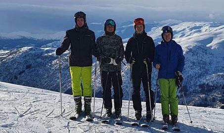 v.l.n.r.: Philipp, Marius, Lasse und Thomas