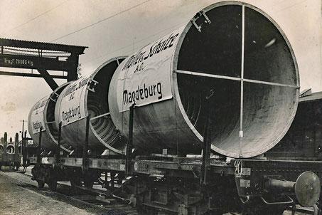 Vorbereitungen eines Großtransports auf dem Bahnhof Magdeburg Neustadt