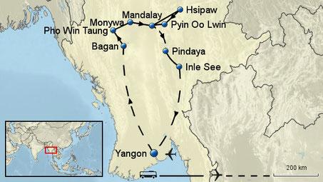 Kleingruppenreise Myanmar 15 Tage incl. 3 Inlandsflügen sichern Sie sich jetzt die beliebten Reisetermine im Frühjahr 2019