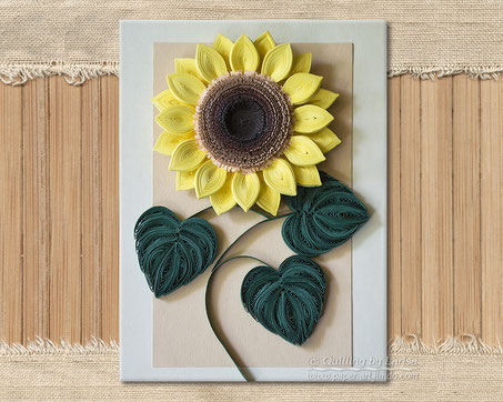quilling , quilling paper, paper art, art, love, design, lessons, sunflower