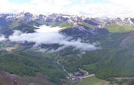 Ausblick von der Bergstation der Seilbahn