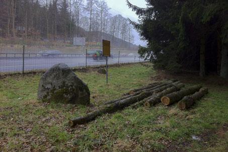 Das Bottisgrab heute - als Holzlager missbraucht. Foto Peter P.  Pfenninger