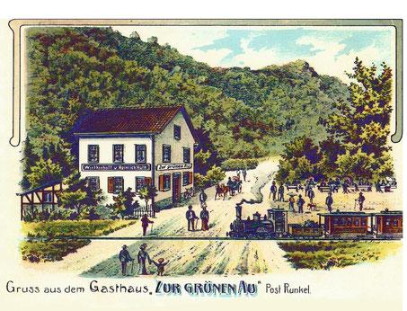Postkarte Zur grünen Au