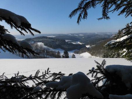 Winterlandschaft im Land der tausend Berge.