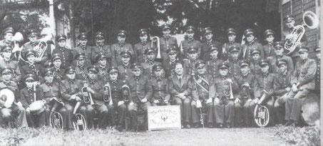 1951: Musikverein der Glasfabrik Oberdorf bei Voitsberg