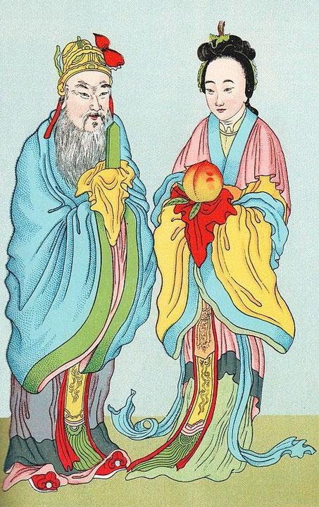 Tong-wang-kong et Si-wang-mou. Cf. Henri Doré, Recherches sur les superstitions en Chine, Tome IX, 2e partie : le panthéon chinois. Chap. IV :  Taoïsme.