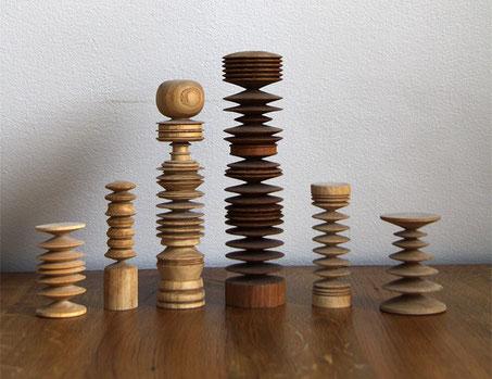 Holz, Drechselarbeit, Tilmann Bohne, Holzsteinpapier