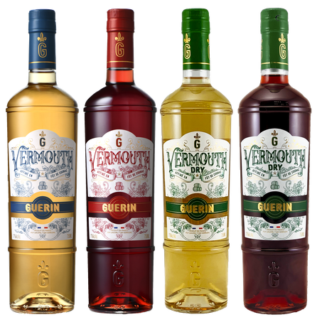Guerin Vermouth: Sweet White, Sweet Red, Dry White, & Dry Red