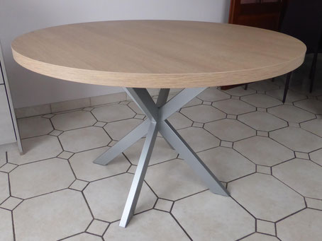 pied de table type mikado pour table ronde