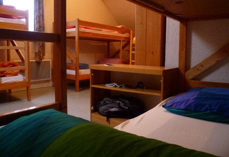 Couchages en dortoir gîte communal Sappey en Chartreuse