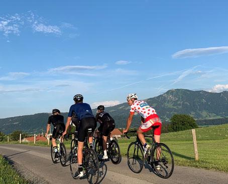 Geführte Rennradtouren - vor dem Grünten