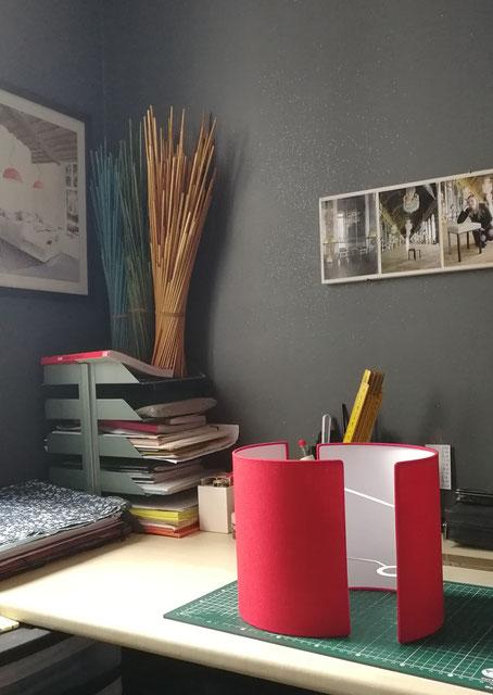 Ensemble d'appliques murales en tissu uni rouge