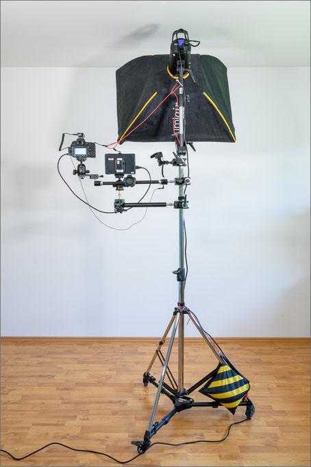 Video-Recording, Aufbau, Ansicht Rückseite komplett, Dr. Ralph Oehlmann, Oehlmann-Photography