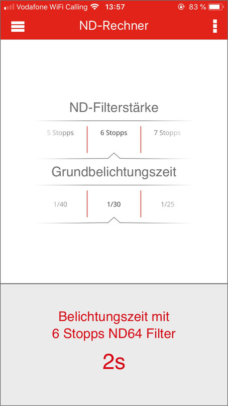 iOS Apps, ND-Rechner, Triggertrap Mobile, Dr. Ralph Oehlmann, Oehlmann-Photography