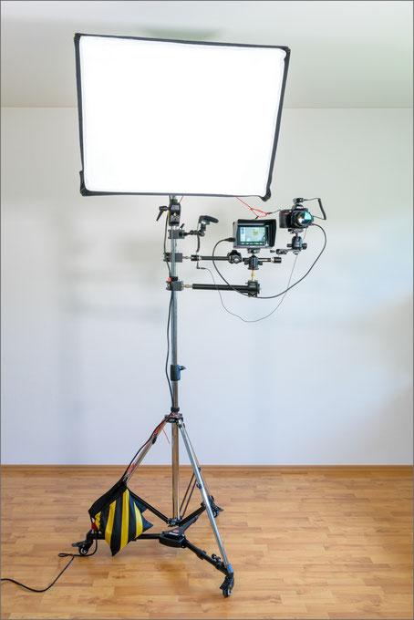 Video-Recording, Aufbau, Ansicht frontal komplett, Dr. Ralph Oehlmann, Oehlmann-Photography