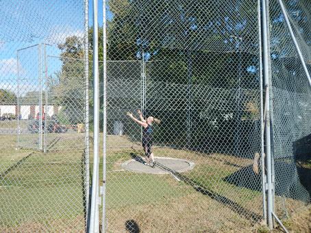 Natascha Wolf hatte viel Pech beim Gewichtwerfen - konnte aber im letzten Versuch noch eine Klasseleistung abliefern.