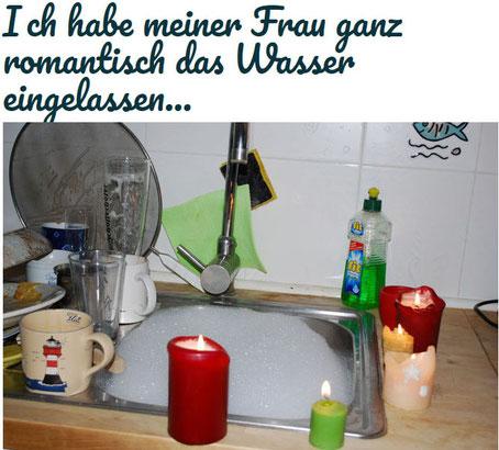 So lässt Mann seiner Frau das Wasser ein (Foto: Früherwisser Media)