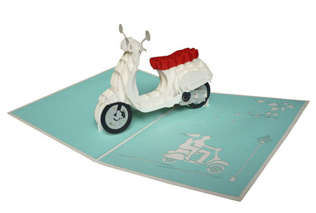 Carte pop-up Vespa