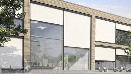 Senkrechtmarkise, Vertikalmarkise, Screens, Storen, Fenstermarkise, Fassadenmarkise