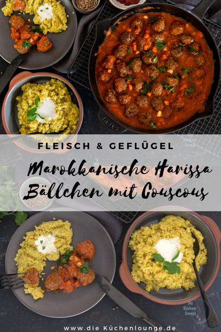 Marokkanische Harissa Bällchen mit Couscous