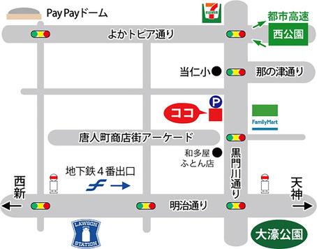 マップ|マニステージ福岡